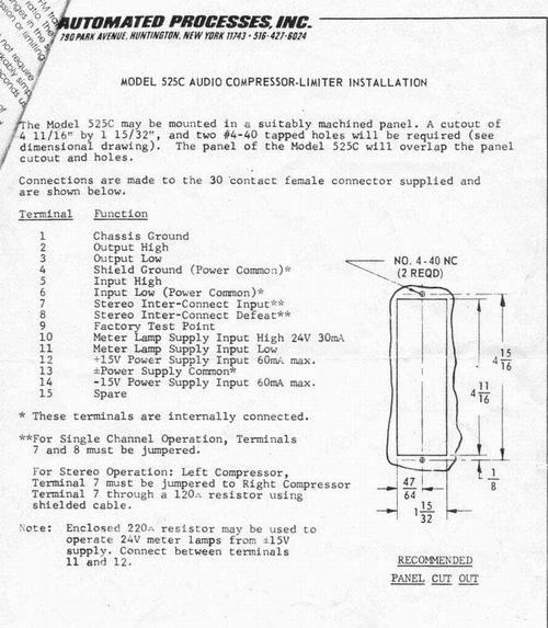 API 525C Installation Instructions