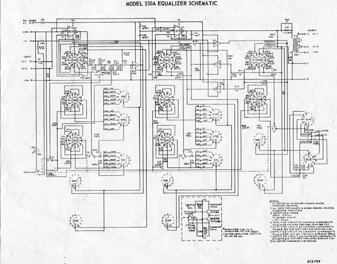 API 550A Schematic