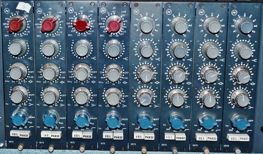 Neve 1073 and 2073 Equalizers