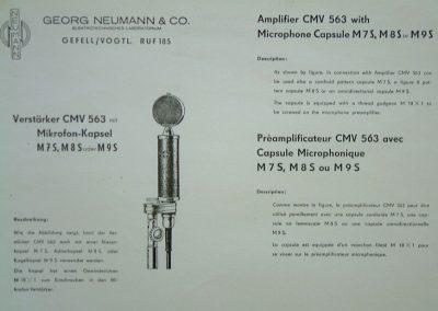 Neumann CMV 563 Spec Sheet