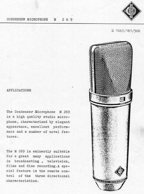 Neumann M269 Brochure Page