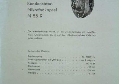 Neumann MK55 Spec Sheet
