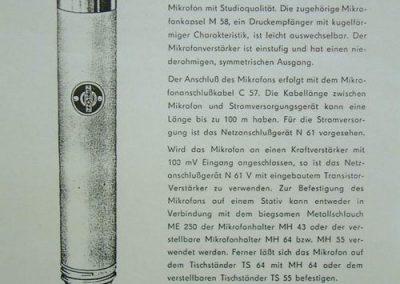 Neumann M58 Brochure Page