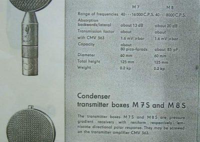 Neumann M7 & M8 Cap Spec Sheet