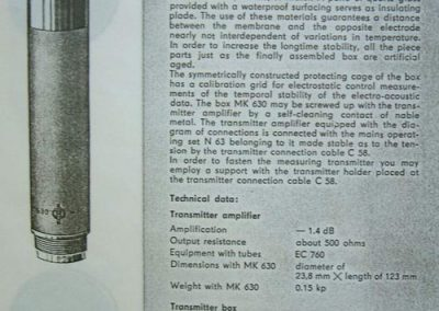 Neumann MV630 Spec Sheet