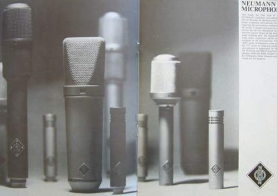 Neumann Microphone Brochure Page
