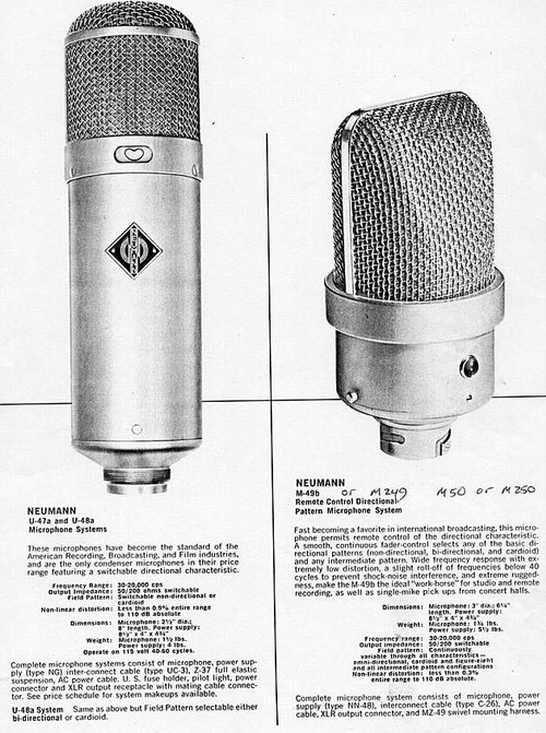 Neumann U 47 Spec sheet