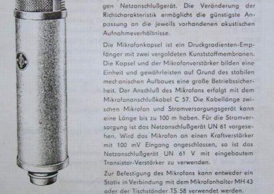 Neumann UM 57 Brochure Page