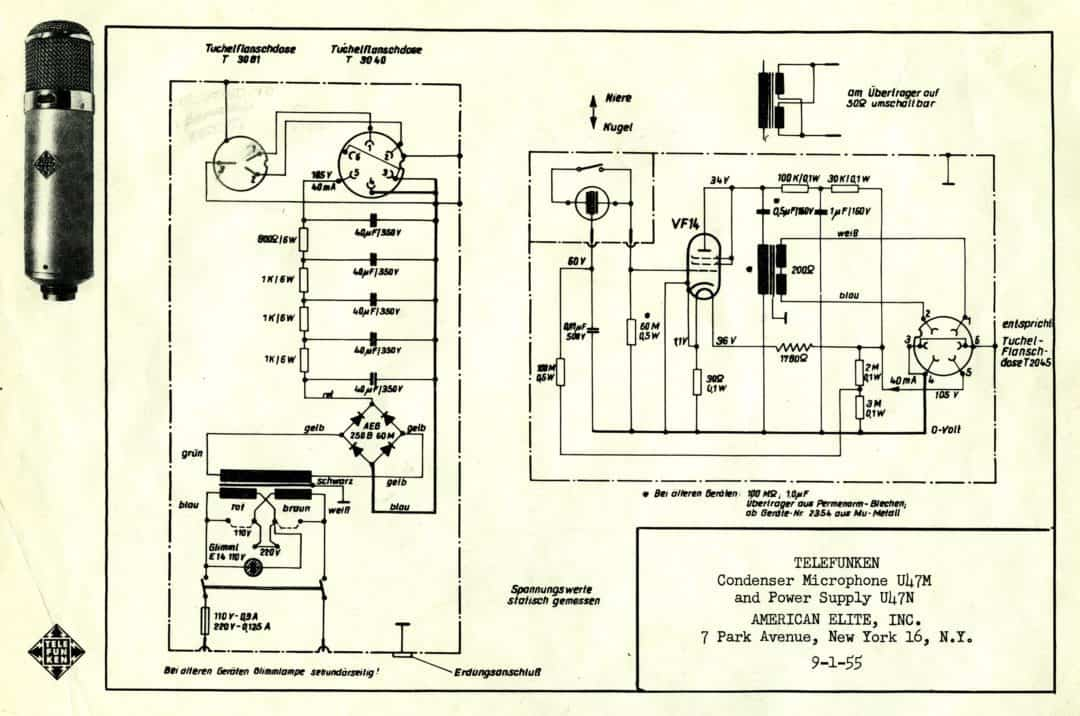 Telefunken U47M Schematic Sheet
