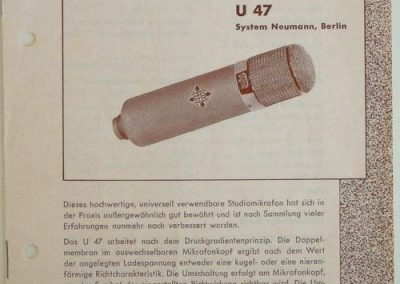 Neumann U47 Brochure