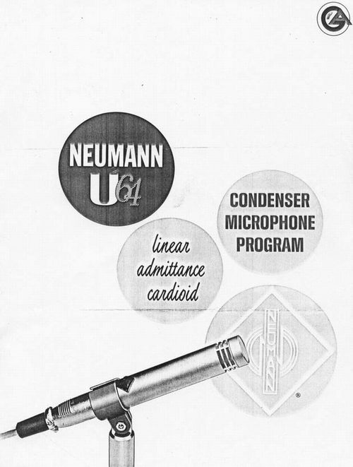 Neumann U64 Condensor Microphone Brochure