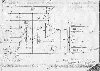 API 312 Mic Preamplifier Schematic