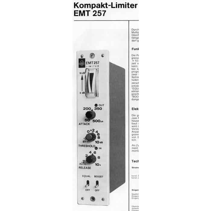 EMT 257 Spec Sheet