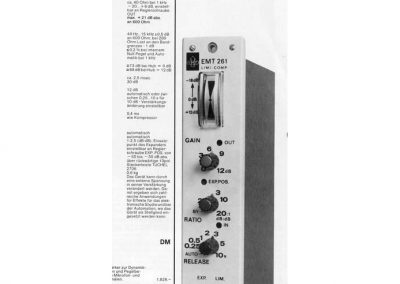EMT 261 Spec Sheet
