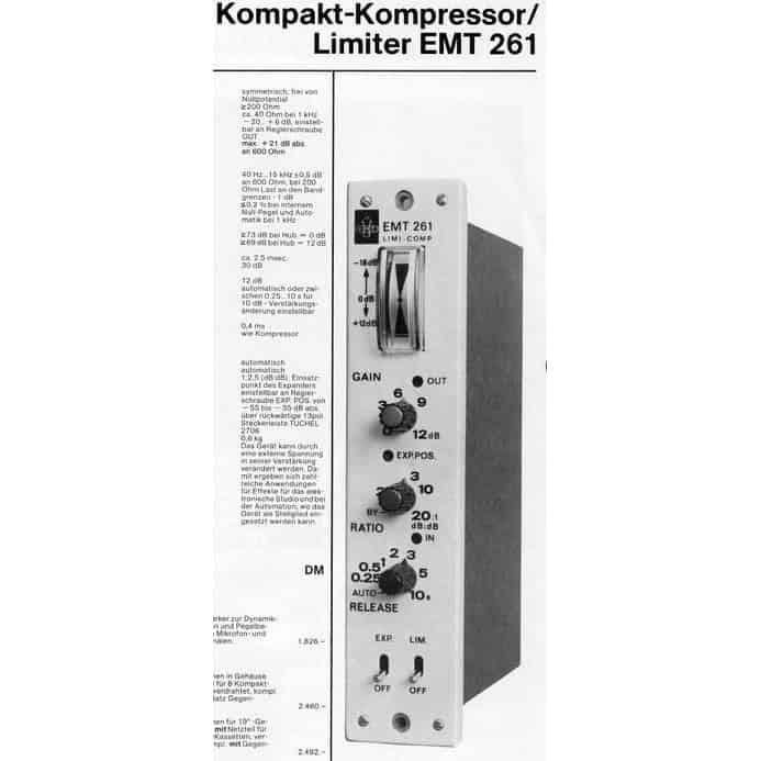 EMT 261 Spec Sheet