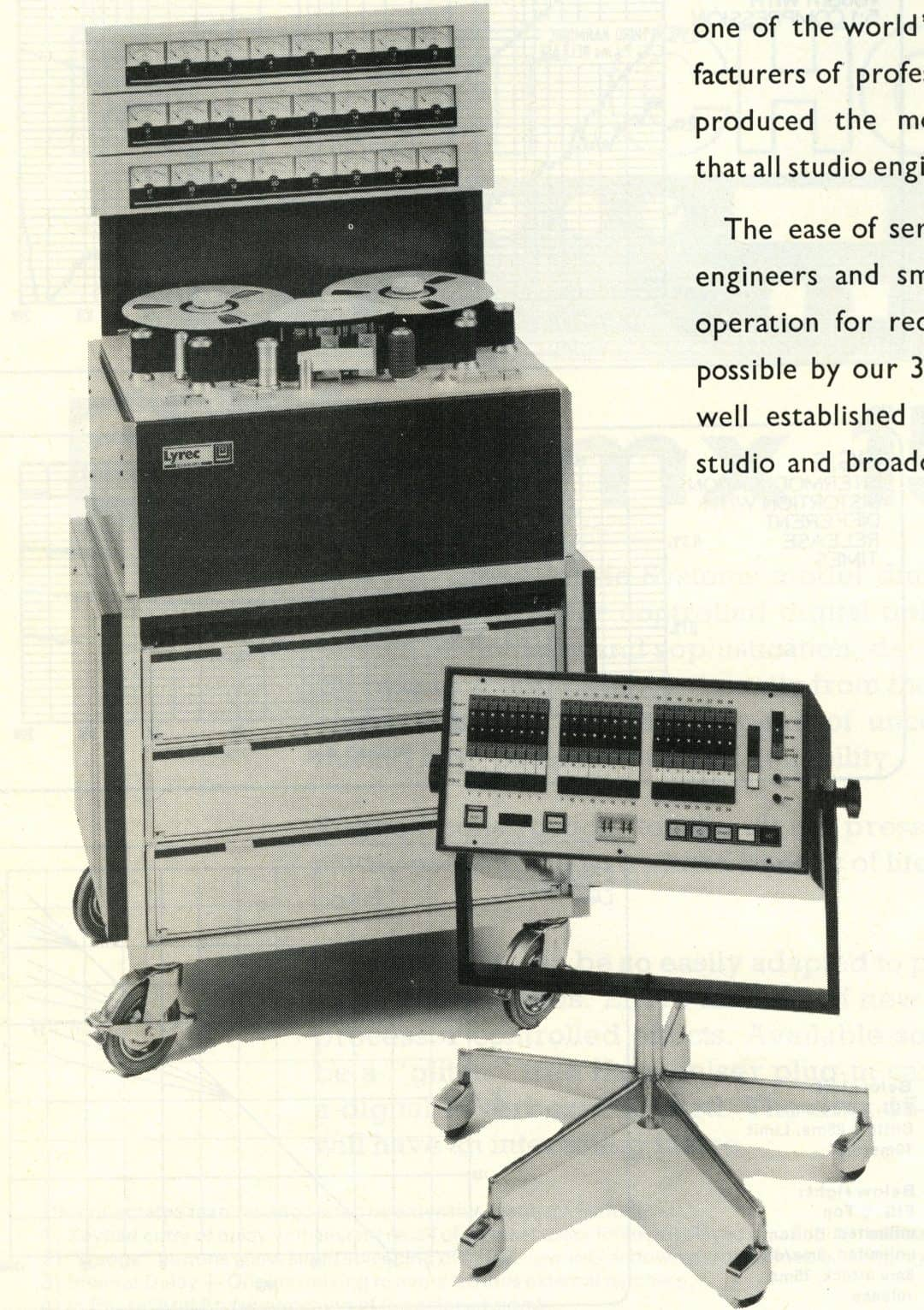 Lyrec Tape Recorder Advertisement