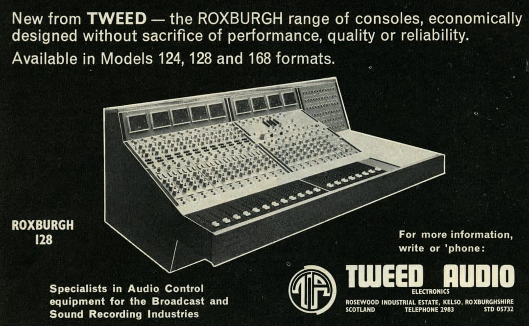 Tweed Audio Roxburgh Console Advertisement