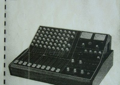 Neve Portable Mixing Unit Type PSM Brochure Page