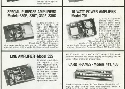 API Amplifier Card Brochure