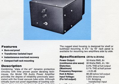 API 705 Audio Power Amplifier Brochure