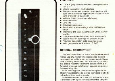 API 440 Fader Brochure