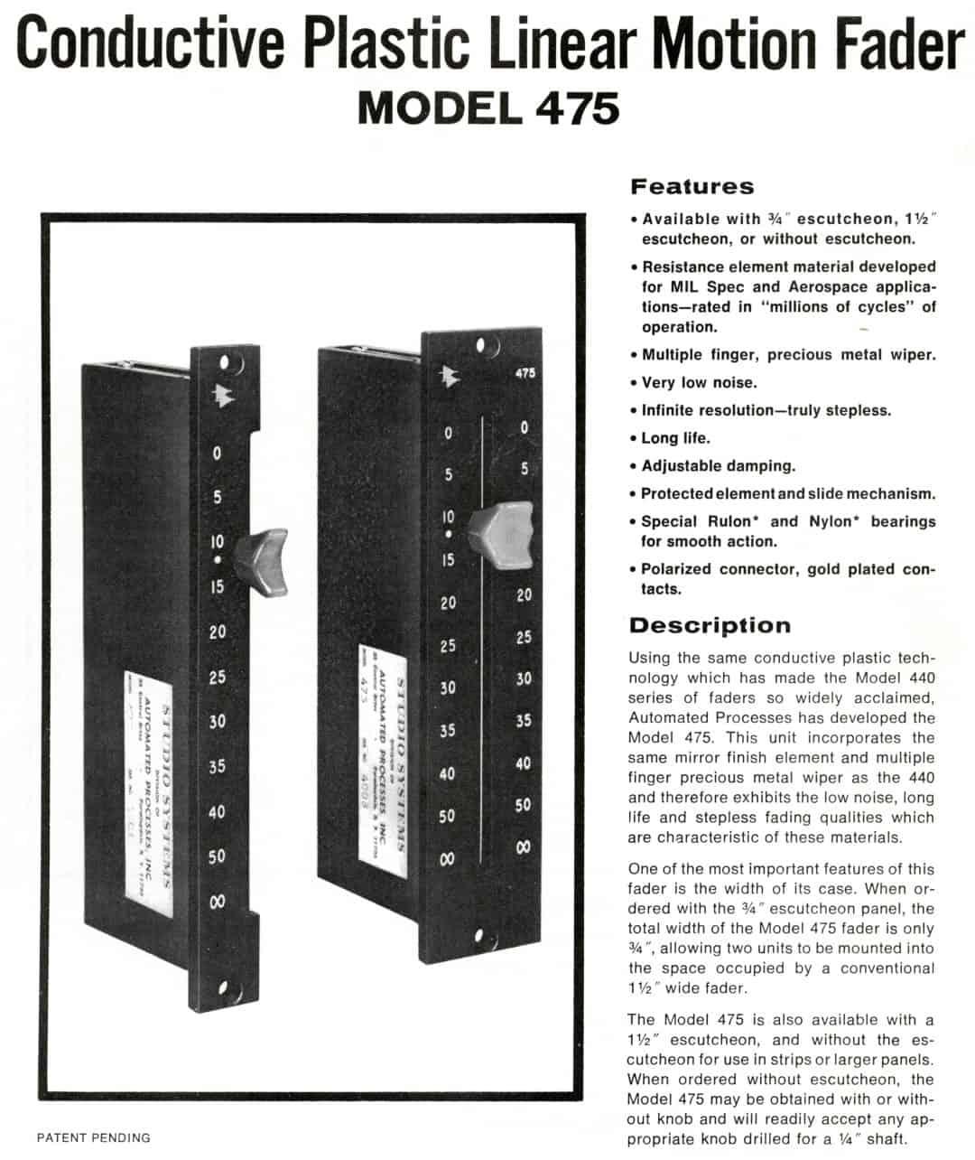 API 475 Brochure