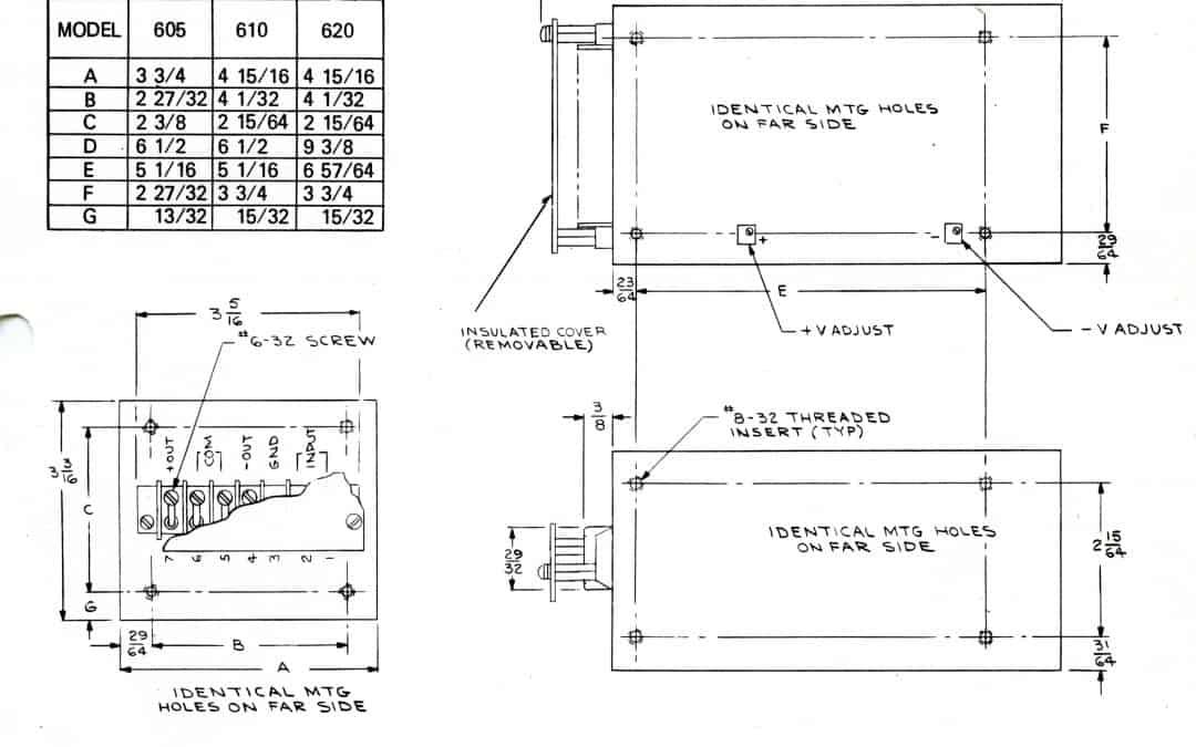 API 605, 610, and 620 Power Supplies Spec Sheet