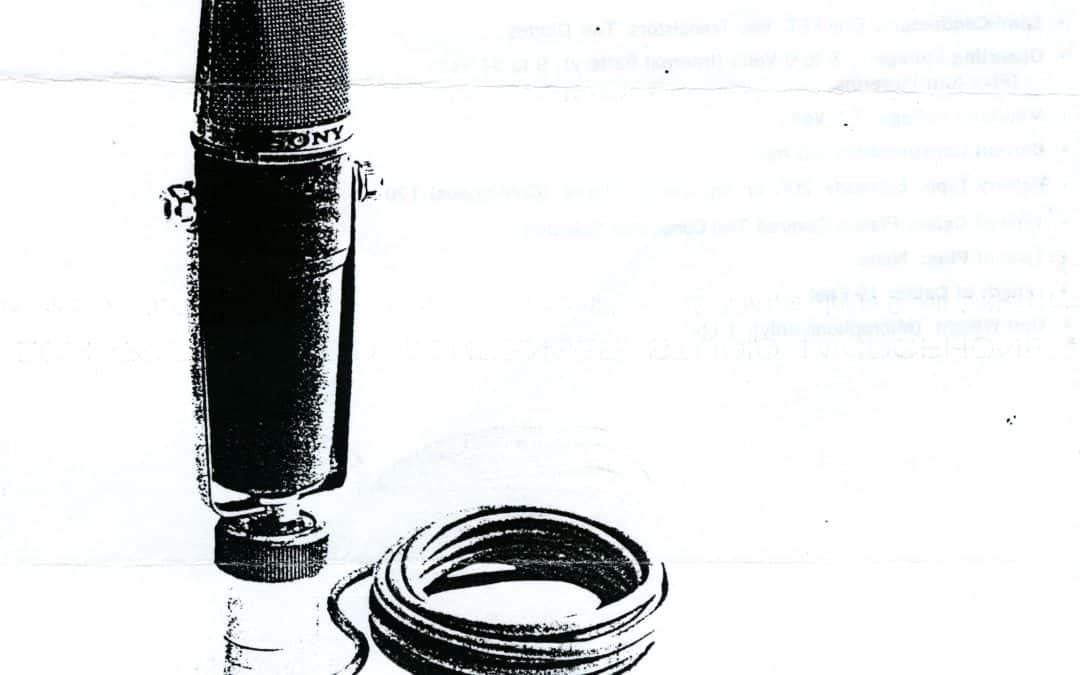 Sony ECM-377 Microphone