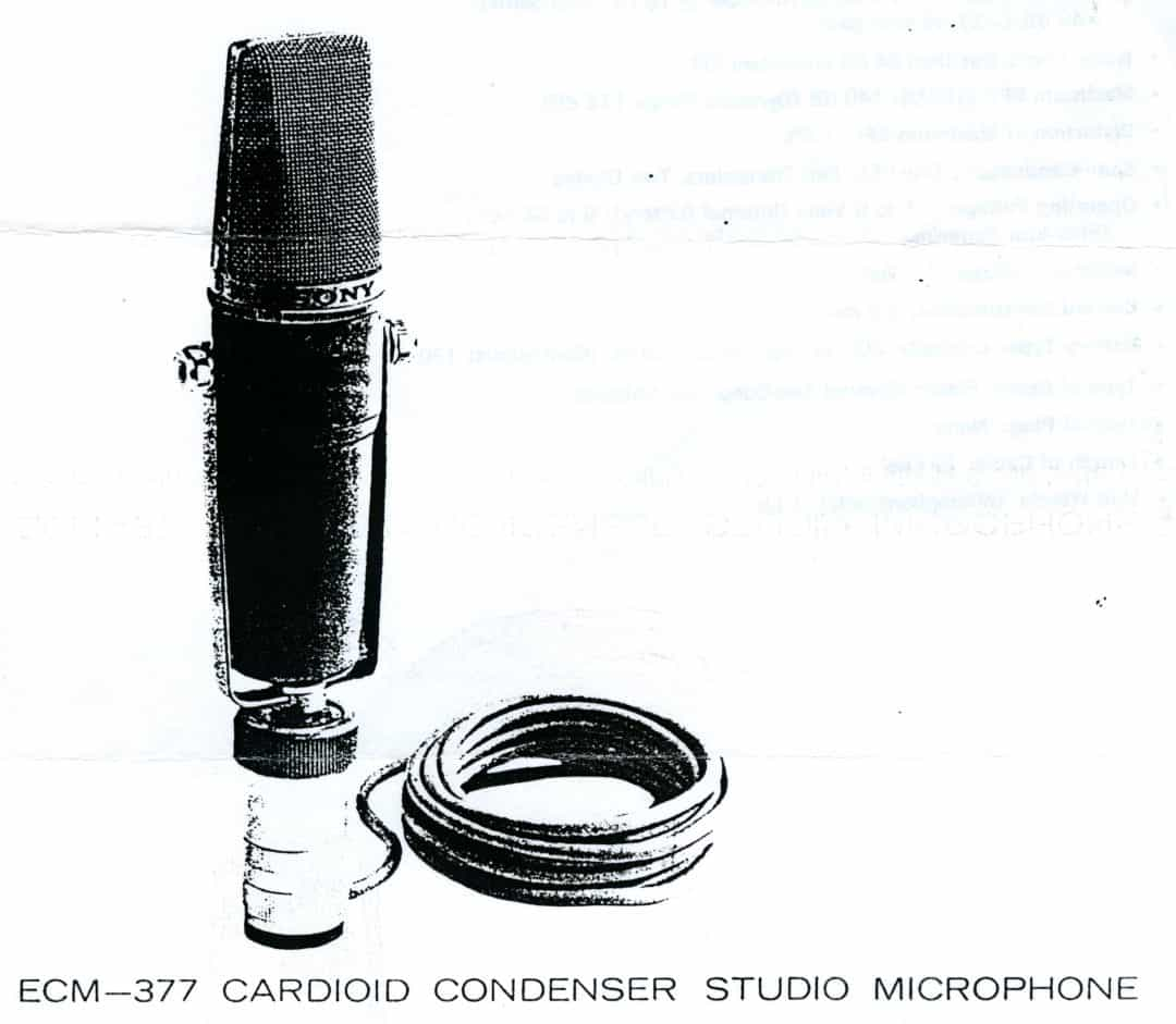 Sony ECM-377 Microphone