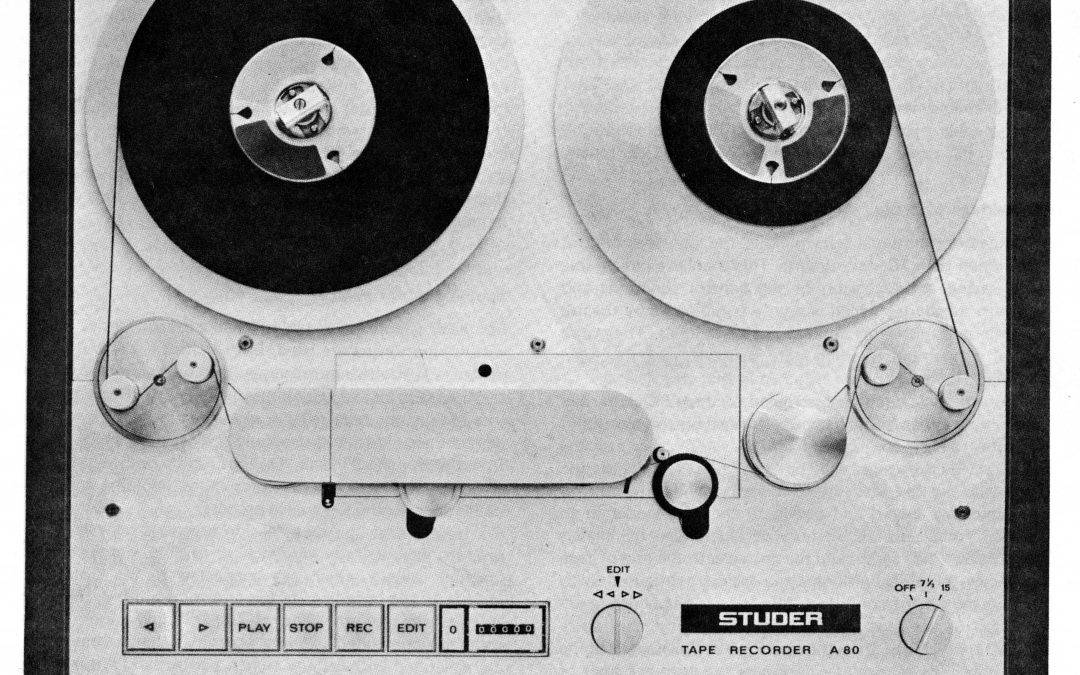 Studer A80 Tape Deck