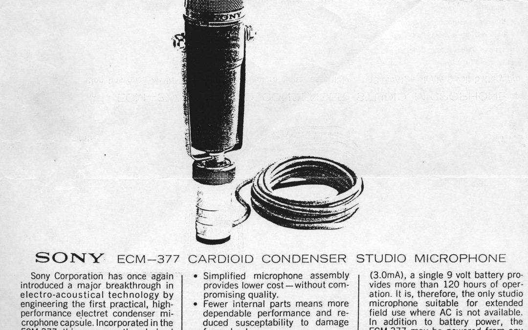 Sony EMC 377 Microphone
