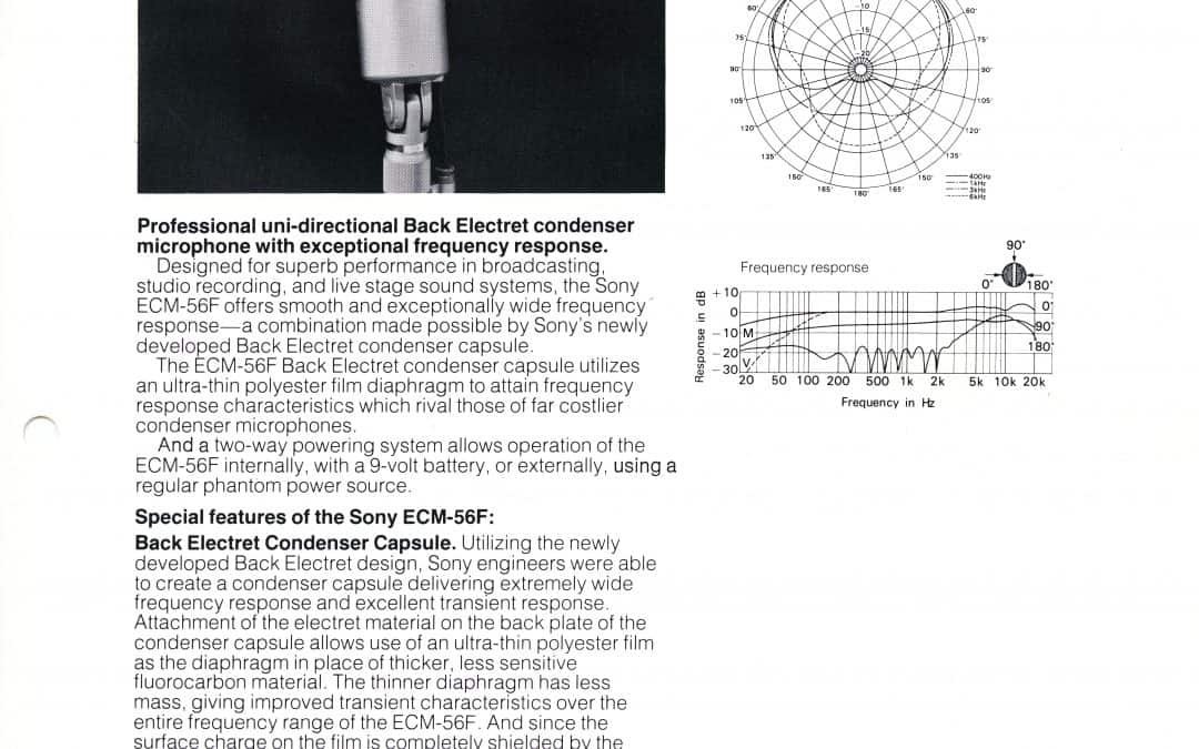 Sony ECM 56F Brochure
