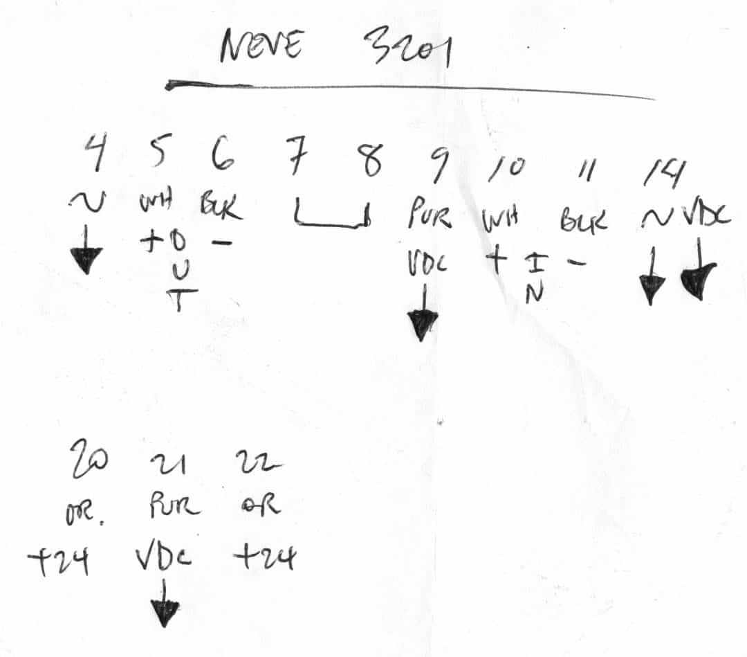 Neve 3201 Pin Out