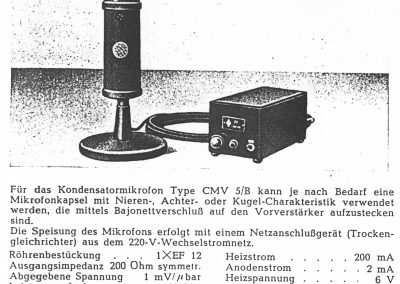 Neumann CMV 5/B Spec Sheet (German)