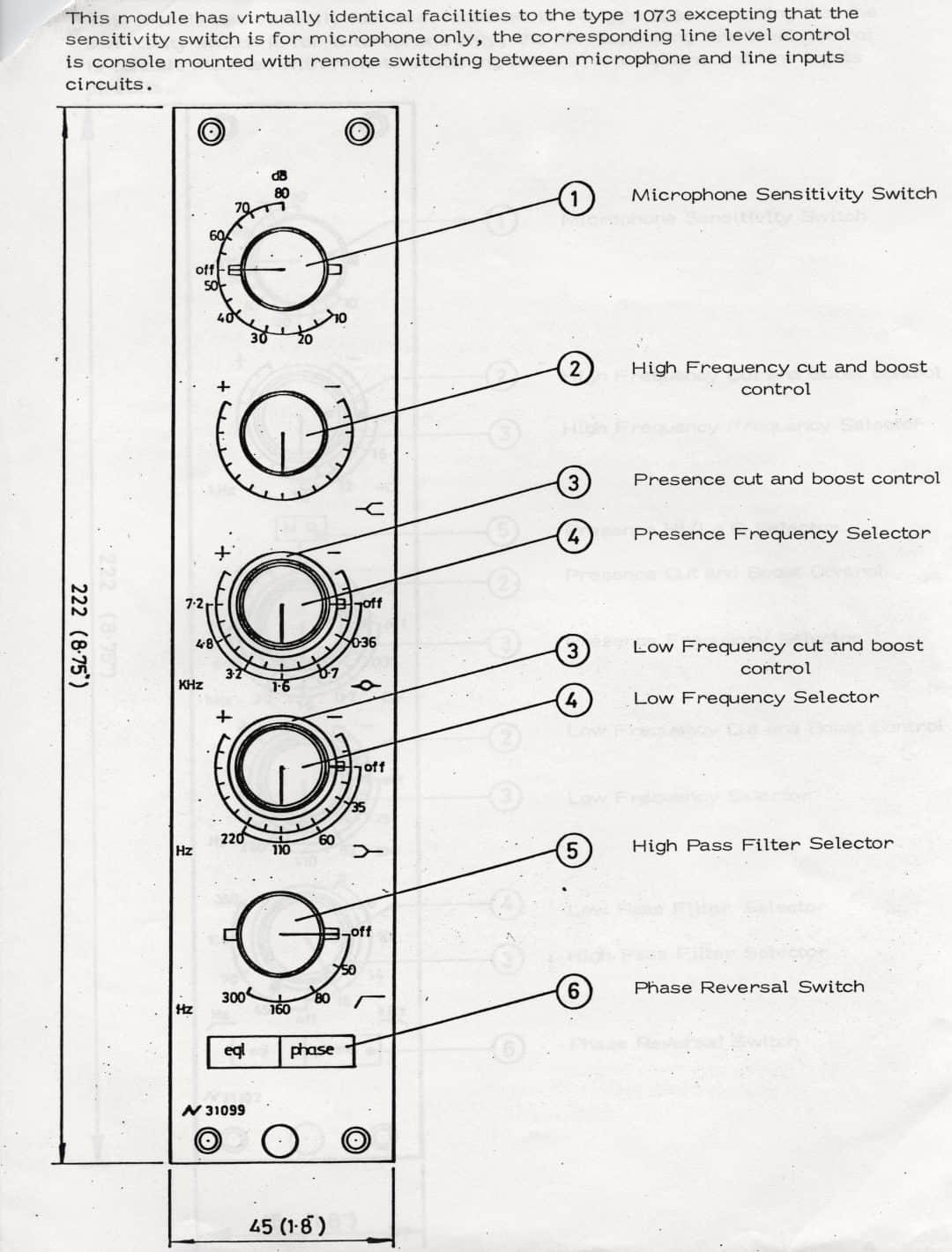 Neve 31099 Diagram